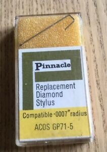 Pinnacle ACOS GP71-75 REPLACEMENT STYLUS NEEDLE Turntable Record Player NOS NEW
