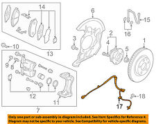 MAZDA OEM 16-17 CX-3-ABS Wheel Speed Sensor D10E4370X