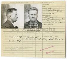 Police Booking Sheet - Burglary and Larceny - Jefferson City, Missouri, 1943