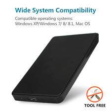 "USB 3.0 HDD SATA External Hard Drive Disk Enclosure Case for 2.5"" SATA HDD & SSD"