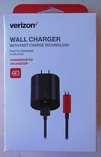Verizon Wall Charger w/ Fast Charge Technology Universal for Micro USB 6ft cable
