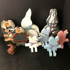 Lot of Easter Bunny Tins, Handmades, Figurines & Decorations | Used | Make Offer