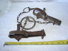 LOT 2 VINTAGE SPORT HUNTING ANIMAL TRAP ONEIDA VICTOR NUMBER 0 LITITZ PA