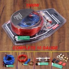 1500W Car Amplifier Wire Wiring Kit 10GA 60 AMP Car Audio Sub/Amp Power Cable