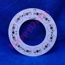12W Round Ring Aluminum PCB 125mm for LED Lamp Light Bulb Spotlight 12x1W 12x3W