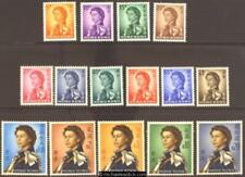 1962-73 Hong Kong QEII Definitives, set of 15, SG 196-210, MH