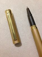 HERO 7037 ROSE GOLD/GOLD TRIM ROLLERBALL PEN-BLACK INK-UK SELLER.