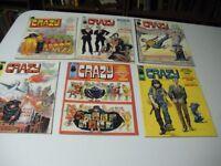 Crazy Magazine/Comic #1, #2, #7, #8, #9 and #11 Oct.1973 -June 1975 Stan Lee