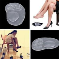1 Pair Gel Silicone Arch Support Heel Flat Foot Orthotic Insole Insert Cushion H