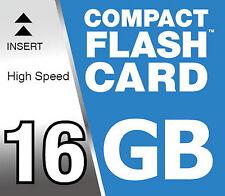 Tarjeta de memoria 16 GB Compact Flash Mapa CF para Canon EOS 1D 30D Digital