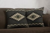 2 Pcs Set of Pillow Throw Indian Jute Cushions Cover Handmade Kilim Vintage 8610