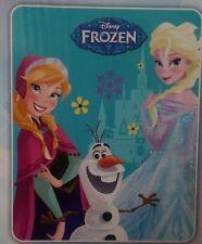 Disney Frozen Anna Olaf & Elsa Baby Royal Plush Raschel Throw Blanket Twin