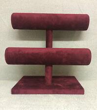 Double Bangle/Bracelet Jewellery display Stand (Burgundy)