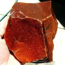 rle BROWN GOLDSTONE ROUGH, CABBING, EXCELLENT! 2.28 lbs.
