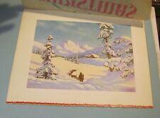 Frederick Ogden Winter Dog Sled Christmas Card Salesman's Sample Art Piece 8x10