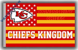 Kansas City Chiefs KINGDOM football Stars Memorable flag 90x150cm 3x5ft banner
