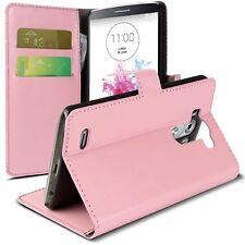Coque Housse Etui Portefeuille Folio Stand Pour LG G3 Cuir Eco Retro Rose  HD