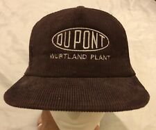 DuPont Wurtland Kentucky Embroidered Logo Corduroy Trucker Hat Cap Snapback