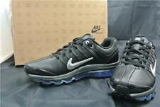 NIKE AIR MAX 2009 LEATHER TRAINERS SIZE 9.5 UK SHOES  BASKET BALL BLACK SILVER