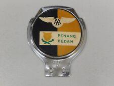 Vintage aluminium Renamel AA Penang KEDAH MALAISIE voiture badge Auto emblème