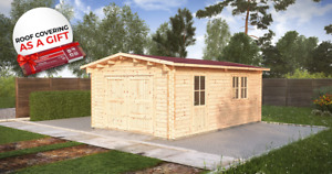 IN STOCK! Garage 4x6 m + BLACK SHINGLES AS A GIFT / free delivery*