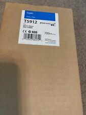 Epson T5912 Cyan toner cartridge - New, sealed OEM with June, 2016 expiration da