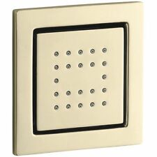 Kohler WaterTile K-8003-AF Square 22 Nozzle French Gold Body Spray Showerhead