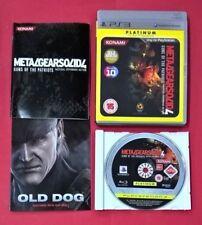 Metal Gear Solid 4 Guns of the Patriots - PLAYSTATION 3 - PS3 - MUY BUEN ESTADO