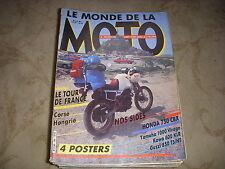 LE MONDE DE LA MOTO 146 04.1987 HONDA 750 CBX YAMAHA 1000 VIRAGO CORSE HONGRIE