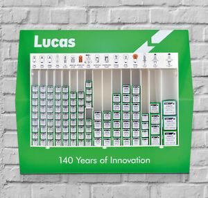 Lucas Automotive Car Bulb Stand 200 bulbs Motor Factor Workshop Garage MOT