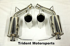 Trident Motorsports 11-14 Ford Mustang V6 3.7L Axle Back Muffler Exhaust TW Tips