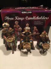 Kirkland Signature Three Kings Candle Holders Costco Christmas Nativity