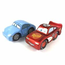 Lot 2Pcs DISNEY PIXAR CARS Wheel Vehicles WOOD Lightning McQueen Sally toy gift