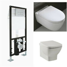Concealed Wall Hung Toilet WC Adjustable Frame + Cistern, Pan, Flush Plate Barga
