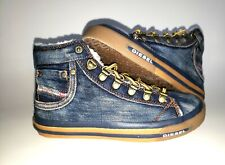 DIESEL Unisex Boys Girls High top Lined Sneakers Snth Fur Cold Weather Size 1