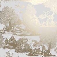 Couronne Ophelia Pégase Papier Peint Doré - M1429 Licorne Neuf