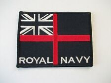 ROYAL NAVY CLOTH PATCH / BADGE - CHOOSE FROM NAVY OR WHITE