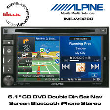 "Alpine INE-W920R 6.1"" CD DVD Double Din Sat Nav Screen Bluetooth iPhone Stereo"