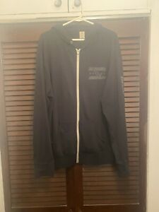 WWE Authentic CM Punk Full Zip-Up Black Hoodie Best Since Day One Size 2XL