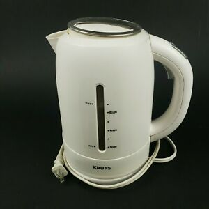KRUPS Cordless Electric Kettle - FLF2 - Cool-touch - 7 Cup / 1.7 Liter - White