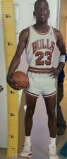 LIFE SIZE 1987 Michael Jordan Standee Chicago Bulls Measure Up Basketball Sign