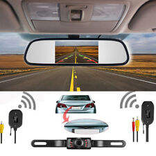 "4.3"" Car Rear View Mirror Reverse Monitor Wireless Backup Camera Parking System"