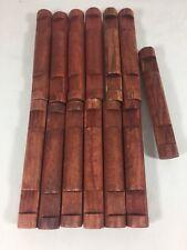 "Wooden LINCOLN LOGS Parts Lot 13 Medium Log Pieces 4.5"" Reddish Brown 2 Notch"