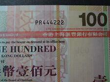 HONG KONG 2008 HSBC 100 DOLLARS, FANCY REPEATER NUMBER PR 444222, ULTRA GEM UNC