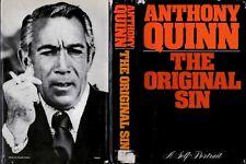 AUTOGRAPHED Anthony Quinn AUTOBIOGRAPHY The Original Sin, A Self-Portrait DJ1sHB
