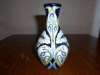 "Moorcroft vase - 372/5 - Rain Daisy - Rachel Bishop - 5"" / 13cm Tall"
