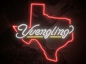 "New Yuengling Texas Neon Light Sign 20""x16"" Beer Man Cave Gift Lamp Window Open"