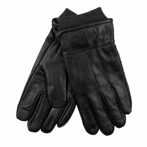 Men's Dockers Leather Touch Screen Gloves with Cuff 45DK020026 Black Sz.L,XL