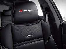 5 x Audi Sport Aufkleber für Kopfstützen A3 A4 A5 A6 A7 RS TT Q7 Emblem Logo