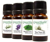 Essential Oils 10 ml  -  Pure & Natural - 60+ Choices - GreenHealth